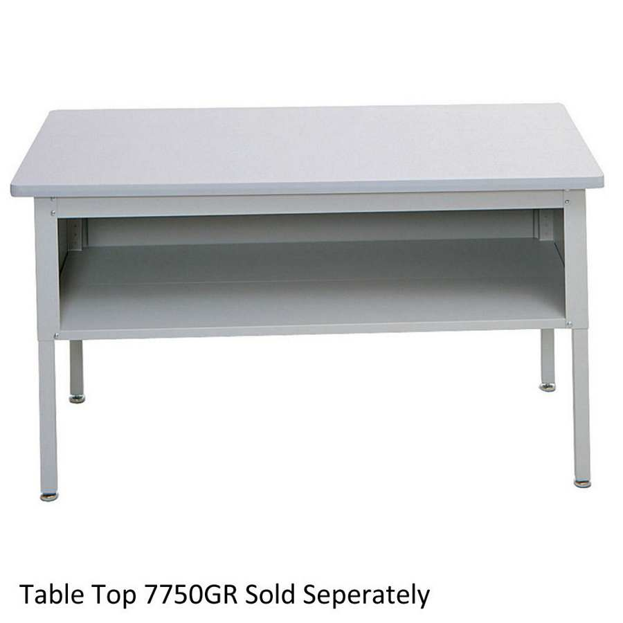 Safco ez sort mailroom furniture base table with shelf 7749 for Table 52 botswana