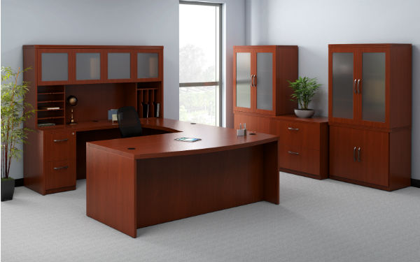 Aberdeen Office Furniture in Cherry