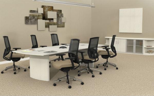 Medina Conference Room Furniture In Sea Salt Laminate DEW Office - Medina conference table