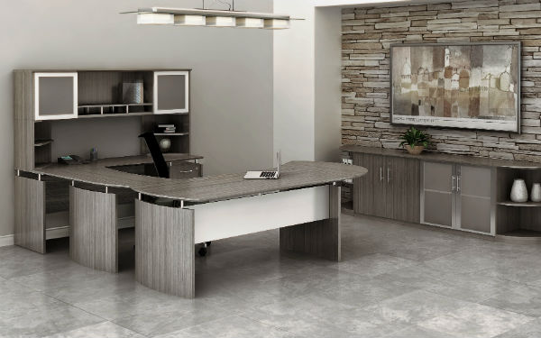 Medina Office Furniture in Gray Steel