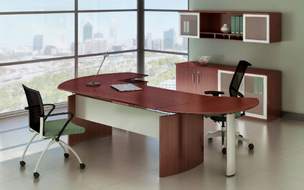 Medina Office Furniture in Mahogany