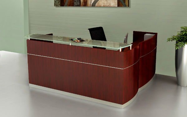 Napoli Reception Room Furniture in Sierra Cherry