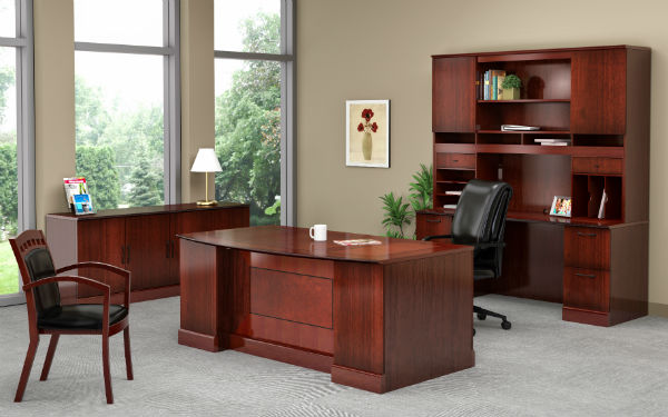 Sorrento Office Furniture in Bourbon Cherry