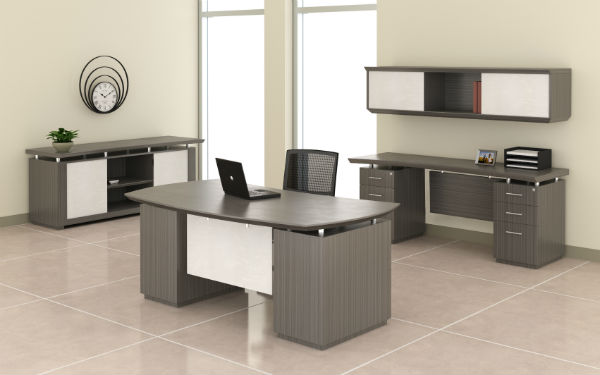 Sterling Office Furniture in Driftwood