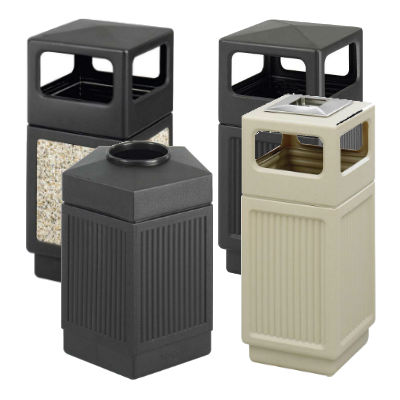 Safco Canmeleon Indoor/Outdoor Waste Receptacles