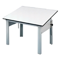 "36"" x 48"" DesignMaster 4-Post Office Height Drawing Table"