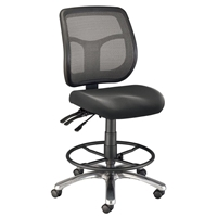 CH728-45DH : Alvin Argentum Mesh Drafting Chair