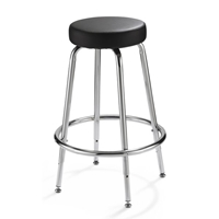 Spacesaver Adjustable Height Stool Drafting Furniture, Drafting Chairs and Stools, Backless Stools, Seating, Backless Stools