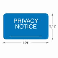 Privacy Notice Labels (Blue)