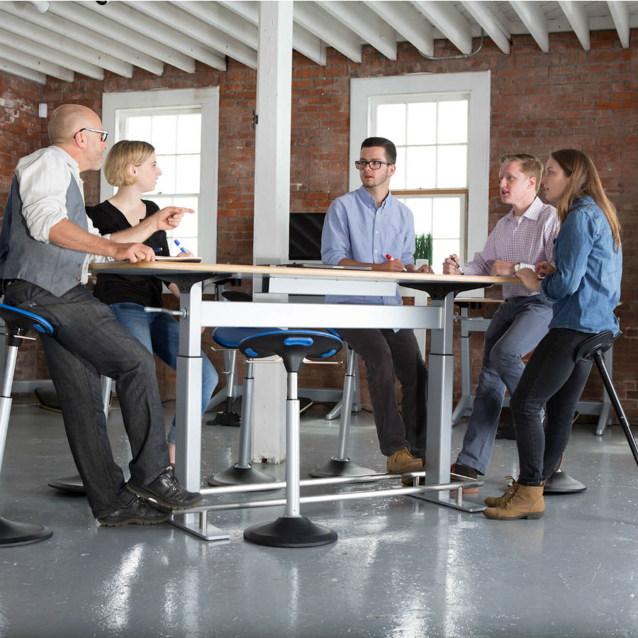 Focal Upright Confluence HeightAdjustable Meeting Table FCT - Tall meeting table