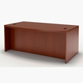 Aberdeen Bow Front Desk in Cherry