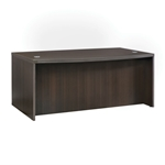 Aberdeen Bow Front Desk in Mocha