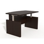 Aberdeen Height-Adjustable Bow Front Desk in Mocha