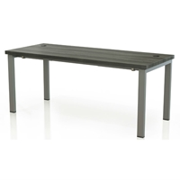Aberdeen Table Desk in Grey Steel