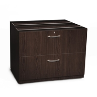 "Aberdeen 36"" Credenza Lateral File in Mocha"