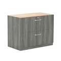 "Aberdeen 36"" Credenza Lateral File in Grey Steel"