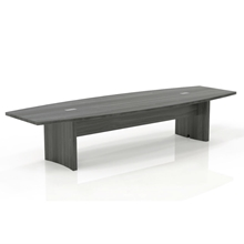 Aberdeen 10' Boat-Shaped Conference Table in Grey Steel