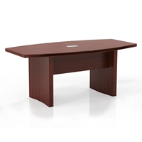 Aberdeen 6 Boat-Shaped Conference Table in Cherry