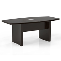 Aberdeen 6 Boat-Shaped Conference Table in Mocha