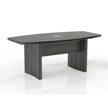 Aberdeen 6' Boat-Shaped Conference Table in Grey Steel