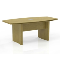 Aberdeen 6 Boat-Shaped Conference Table in Maple