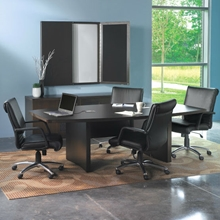 Aberdeen 6' Boat-Shaped Conference Table in Mocha