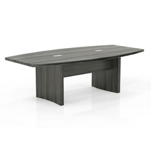 Aberdeen 8' Boat-Shaped Conference Table in Grey Steel