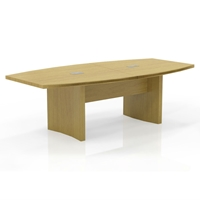 Aberdeen 8 Boat-Shaped Conference Table in Maple Laminate