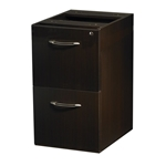 Aberdeen Credenza/Return File-File Pedestal in Mocha
