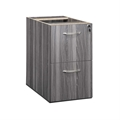 Aberdeen Credenza/Return File-File Pedestal in Grey Steel