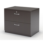 Aberdeen Freestanding Lateral File in Mocha