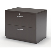 "Aberdeen 30"" Freestanding Lateral File in Mocha"