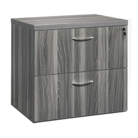 "Aberdeen 36"" Freestanding Lateral File in Gray Steel"