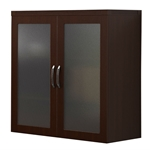 Aberdeen Glass Display Cabinet in Mocha
