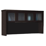 "Aberdeen 72"" Hutch with Glass Doors in Mocha"