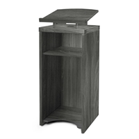Aberdeen Lectern in Grey Steel Laminate
