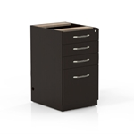 Aberdeen Credenza/Return Pencil-Box-Box-File Ped in Mocha