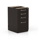 Aberdeen Desk Pencil-Box-Box-File Pedestal in Mocha