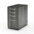 Aberdeen Desk Pencil-Box-Box-File Pedestal in Grey Steel