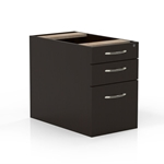 Aberdeen Suspended Credenza Pencil-Box-File Ped in Mocha