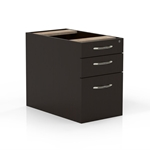 Aberdeen Suspended Desk Pencil-Box-File Pedestal in Mocha