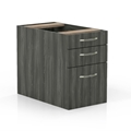Aberdeen Suspended Desk Pencil-Box-File Pedestal in Grey Steel