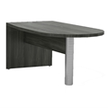 "Aberdeen 72"" Freestanding Peninsula in Grey Steel"