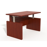 Aberdeen Height-Adjustable Conference Front Desk in Cherry