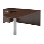 Aberdeen Peninsula Desk in Mocha