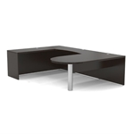 Aberdeen U-Shaped Peninsula Desk in Mocha