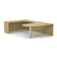 Aberdeen U-Shaped Peninsula Desk in Maple
