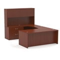Aberdeen Straight Front U-Shaped Desk in Cherry