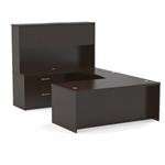 Aberdeen Straight Front U-Shaped Desk in Mocha