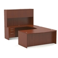 Aberdeen Bow Front U-Shaped Desk in Cherry